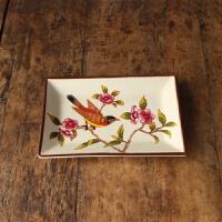 创意家居美式陶瓷彩绘肥皂盒美容院宾馆欧式卫生间肥皂碟香皂托