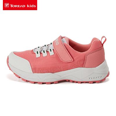 【折后价:255元】探路者童鞋 2020春夏户外透气网布儿童通款徒步鞋QFAI85011 限时2件2.5折