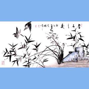 中国青年美术家协会常务理事,国家一级美术师,中国山水画院专业画家,山东省美协会员高云鹏(君子之交)
