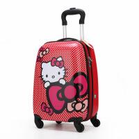 儿童拉杆箱16寸18寸万向轮女宝宝旅行箱可爱卡通女孩登机行李箱 18寸方形( 小锁贴纸)