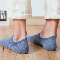 袜子男士纯棉短袜船袜夏季低帮浅口隐形袜短筒运动袜男袜 深灰 品质男袜5双装 均码
