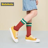巴拉巴拉儿童帆布鞋男女童布鞋韩版2019新款春秋复古时尚百搭洋气