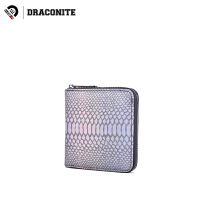 DRACONITE时尚日韩欧美风短款pu皮蛇纹钱包男女零钱包卡包