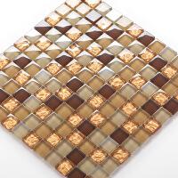 马赛克瓷砖玻璃马赛克咖色 欧式客厅 电视背景墙拼图 瓷砖卫生间KTV 30*30