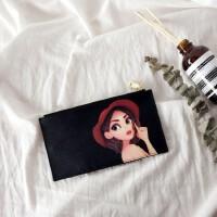 2018卡包女式韩版卡通长款卡夹大容量简约个性卡套卡