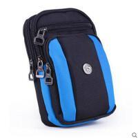 单肩斜挎运动腰包 户外多功能手机包6.8寸挂包女旅行 穿皮带腰包男