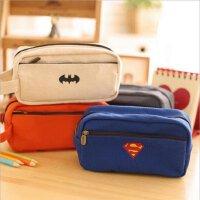 日韩国可爱英雄系列超人笔袋大容量 多功能文具袋铅笔盒学生奖品