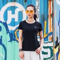 【林更新联名款】特步女子短袖针织衫2019夏季新款轻薄图案简约882128019269