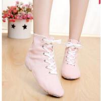 高帮舞蹈 鞋练功鞋爵士舞鞋爵士靴芭蕾 舞 蹈 女鞋帆布室内健身鞋