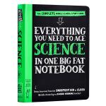 【中商原版】美国中学生优等生笔记 Everything You Need to Ace Science in One