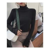 高领毛衣女秋冬打底衫2018新款韩版堆堆领黑色长袖加厚套头针织衫
