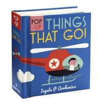 启蒙立体小书 交通工具 英文原版Pop-up Things That Go! 儿童认知识物