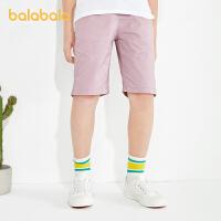 【3件5折价:30】巴拉巴拉裤子男大童中裤童装儿童短裤男童裤子夏装中大童