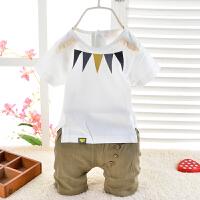 男童夏装夏季童装儿童短袖中小童休闲两件套 流苏三角款