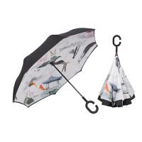 雨程反向伞双层免持式雨伞折叠防晒伞晴雨两用伞男女士遮阳防晒伞