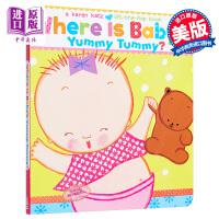 【中商原版】卡伦卡茨纸板翻翻书 宝宝可爱的小肚肚在哪?英文原版 Where Is Baby'sYummy Tummy?