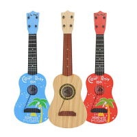 儿童吉他可弹奏玩具迷你乐器琴音乐宝宝初学者小吉他 木纹(69CM)