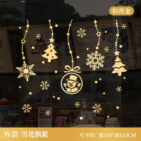 圣诞节树装饰品创意鹿贴纸商场店铺玻璃门窗贴画橱窗节日场景布置