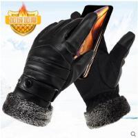 手套棉可触屏中长款加厚男士手套秋冬款骑行电动摩托车保暖