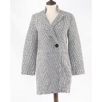 跳楼价秋冬欧美女装时尚大码中长款仿毛呢外套呢大衣Q10-b89890