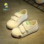 【69元2双】芭芭鸭童鞋儿童帆布鞋学生白布鞋女童皮鞋 板鞋宝宝鞋学步鞋韩版2019春季新款
