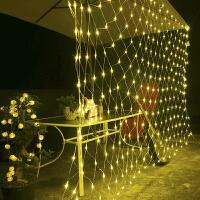 LED网灯彩灯闪灯串灯渔网灯防水工程装饰梦幻灯光节网状布置草坪