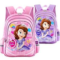 迪士尼书包小学生苏菲亚女童白雪公主儿童减负双肩1-3一年级背包