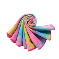 [当当自营]皮尔瑜伽 (pieryoga)加厚瑜伽铺巾 吸汗防滑瑜伽毯 麂皮绒健身毯 霓彩(送收纳袋)