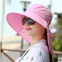夏季防晒防紫外线户外骑车大沿帽子女夏天韩版潮遮阳帽太阳帽休闲
