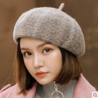 贝雷帽女网红同款时尚韩版百搭羊毛呢日系格纹英伦复古潮蓓蕾帽画家南瓜帽户外运动新品