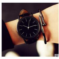 情侣手表 手表女学生韩 版时尚潮 流简约 大表盘男表皮带女表