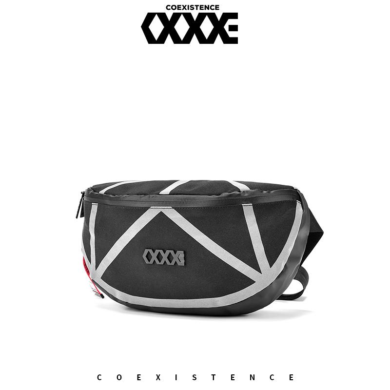 【支持礼品卡支付】COEXISTENCE欧美潮流腰包胸包旅行运动骑行反光男单肩斜跨包全场包邮