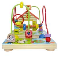 儿童串珠新款农场绕珠早教玩具宝宝益智力玩具1-2-3岁