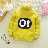 男童高领毛衣装儿童加绒加厚针织衫宝宝羊绒衫小童保暖打底线衣