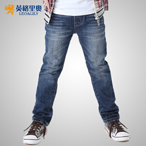 英格里奥童装男童冬装双层加厚休闲牛仔裤LLB601N