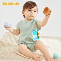 巴拉巴拉婴儿衣服新生儿连体衣初生宝宝爬爬服哈衣周岁衣服纯棉潮夏