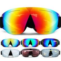 征伐 滑雪眼睛 单层滑雪镜成人儿童大球面眼镜近视镜登山户外骑行男女款
