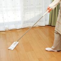 日本LEC 平板木地板家用拖把 可夹布静电除尘纸可旋转拆卸免清洗