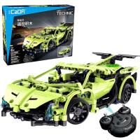 双鹰遥控积木遥控车儿童拼装模型车变形车男孩亲子益智DIY玩具车