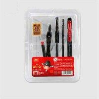 真彩V3323状元红考试套装 8件套 吸塑包装 中性笔 三角尺 涂卡笔 8件套