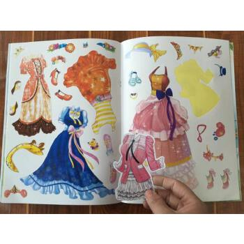 公主换装贴纸书宝宝贴贴画本益智手工贴画宝宝幼儿童粘贴纸书贴贴画