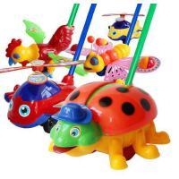 小孩子单杆手推车 宝宝学步手推车 幼儿童推推乐手推玩具龙虾飞机带铃铛会吐舌头
