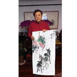 中国书法家协会会员、央视著名节目主持人 赵忠祥《农家乐》【带合影】PYQ