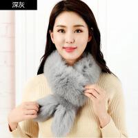 围巾女冬天兔耳朵款百搭韩版狐狸毛学生可爱冬季保暖围脖