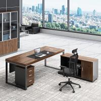 老板办公桌简约现代办公家具桌椅组合总裁桌大班台单人主管经理桌