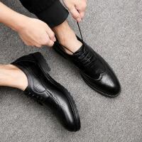 DAZED CONFUSED 潮牌男鞋子英伦风时尚个性百搭休闲皮鞋复古鳄鱼纹尖头休闲鞋男士