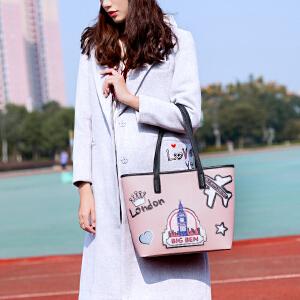 2017新款大包包女韩版个性时尚大容量少女卡通托特包手提单肩包潮