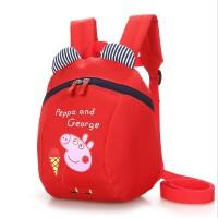 幼儿宝宝双肩小书包1-3岁儿童男女小孩防走失丢失可爱卡通背包潮 红色 可爱