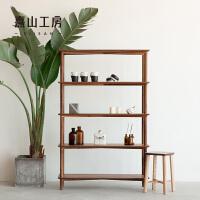 实木书架置物架简易组装多层落地收纳架学生书柜蹭蹭书柜