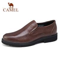 camel骆驼男鞋 秋季新款商务正装皮鞋牛皮商务办公防滑套脚皮鞋